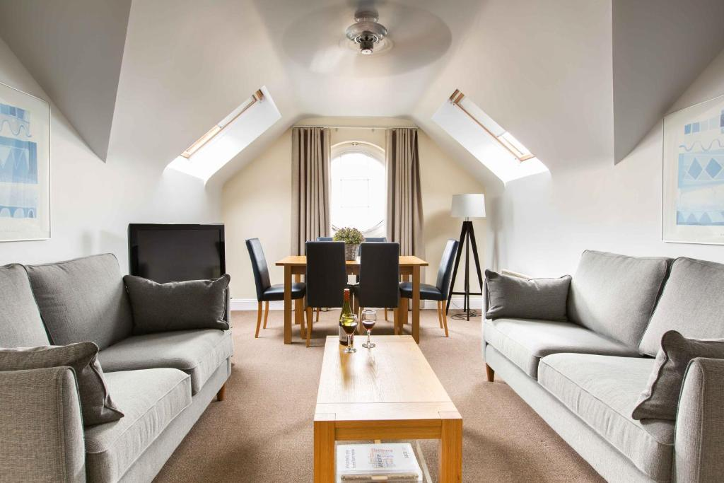 A seating area at SACO Jersey - Merlin House