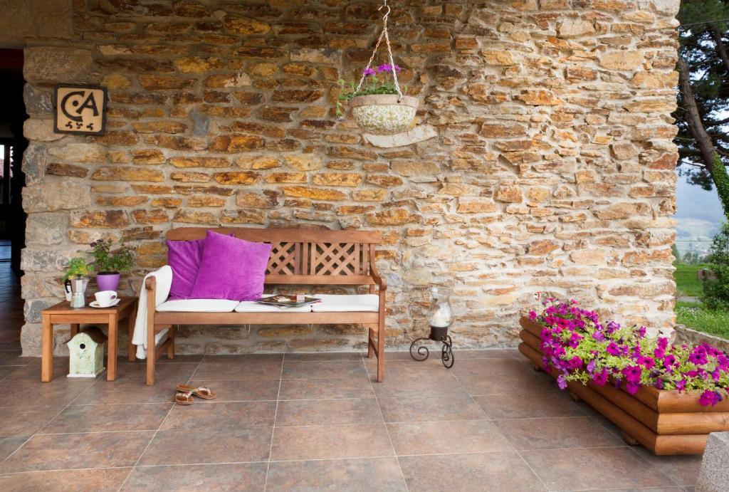 Ein Sitzbereich in der Unterkunft La Casa de la Abuela Milagros