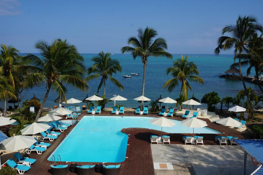 A view of the pool at Coral Azur Beach Resort Mont Choisy or nearby