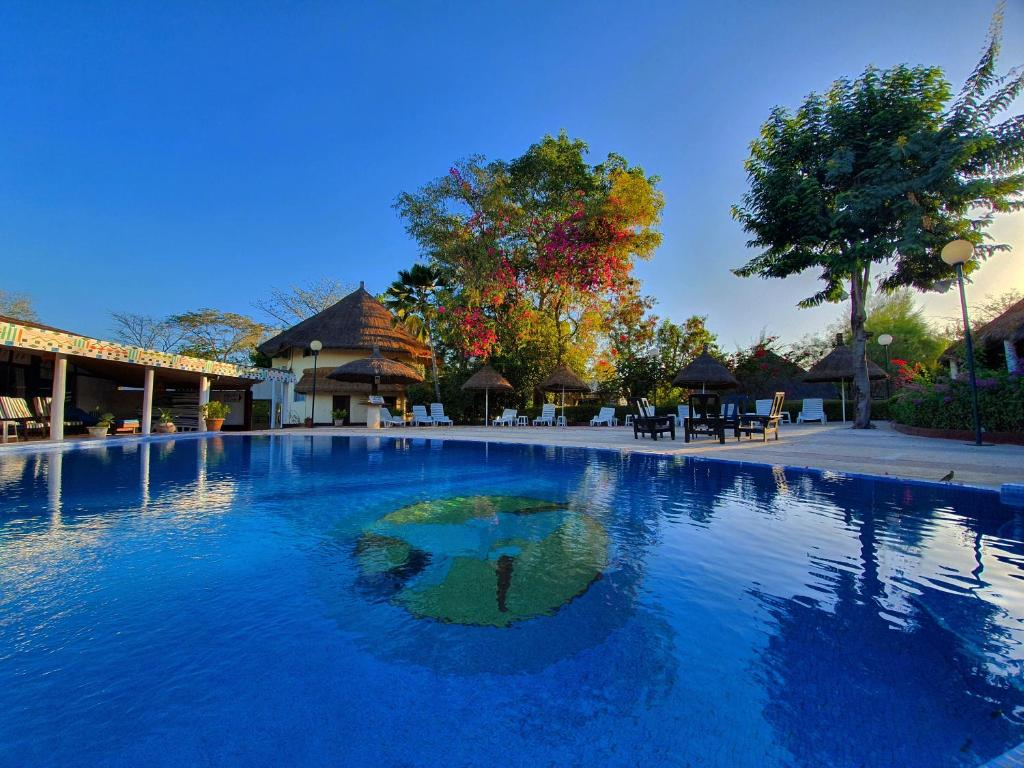 The swimming pool at or near Keur Saloum