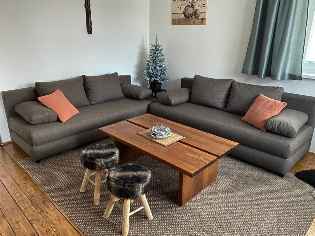 A seating area at Apartmány Poliak