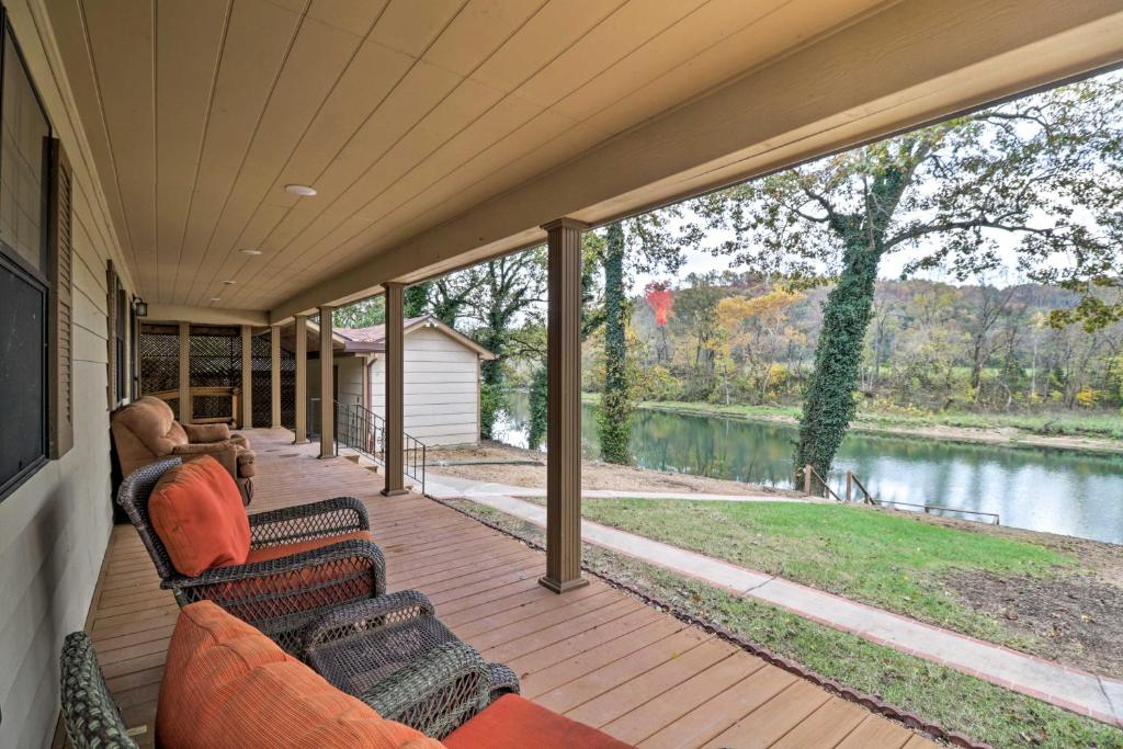 Waterfront Norfork River Home with Dock-2 Mi to Lake!
