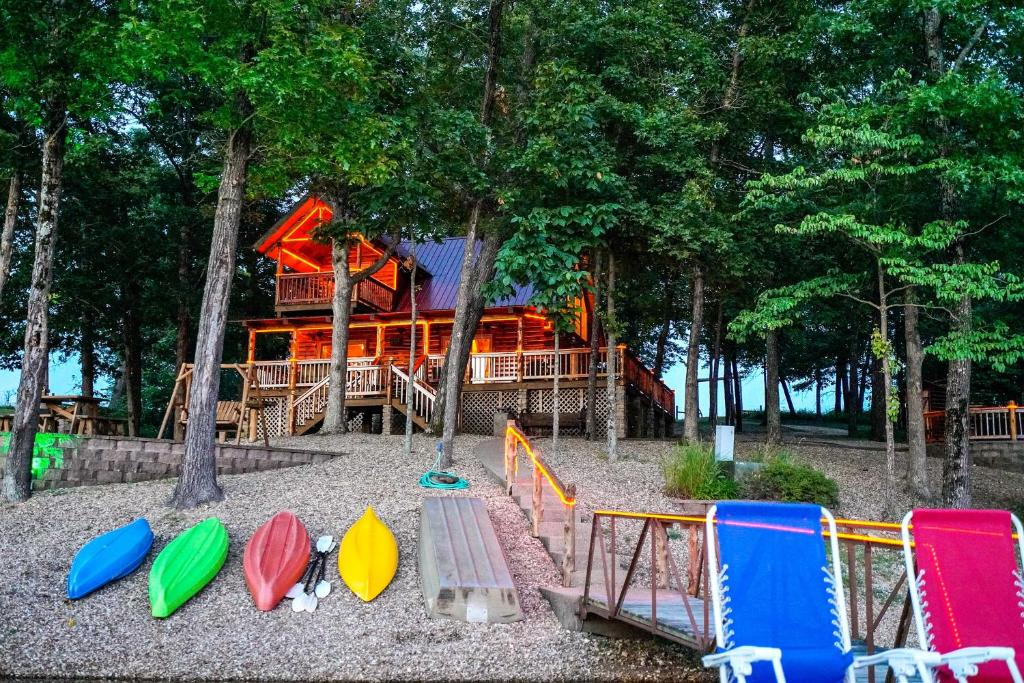 Children's play area at Remote Cabin on 30 Acres with Dock and Private Lake!