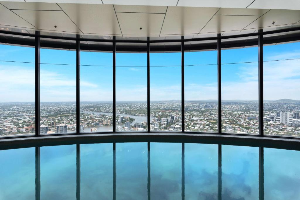 The swimming pool at or near Arise Brisbane Skytower