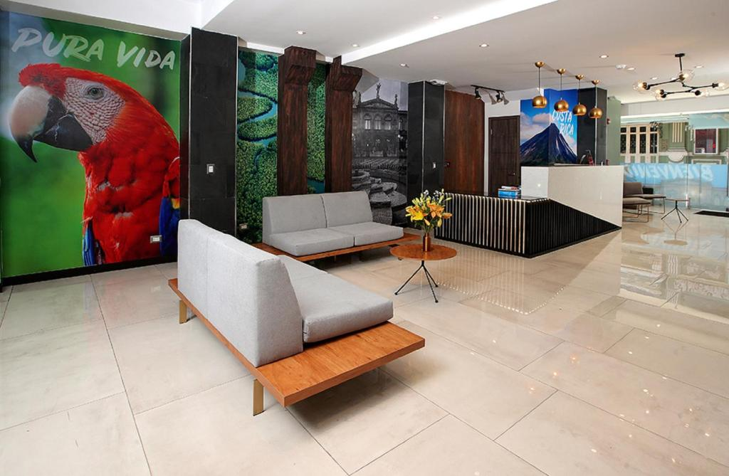 The lobby or reception area at Hotel Cultura Plaza