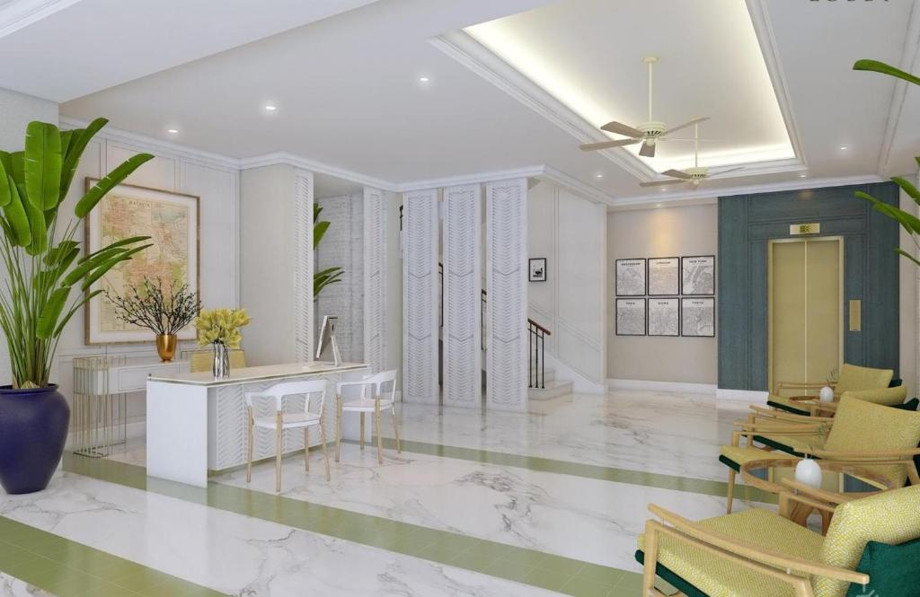 The lobby or reception area at Jambuluwuk Thamrin Hotel