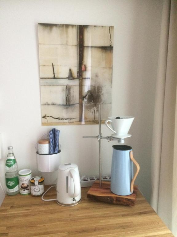 Kaffee-/Teezubehör in der Unterkunft Alte Schlossgärtnerei