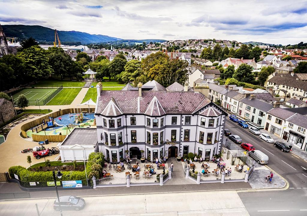 A bird's-eye view of The Whistledown Hotel