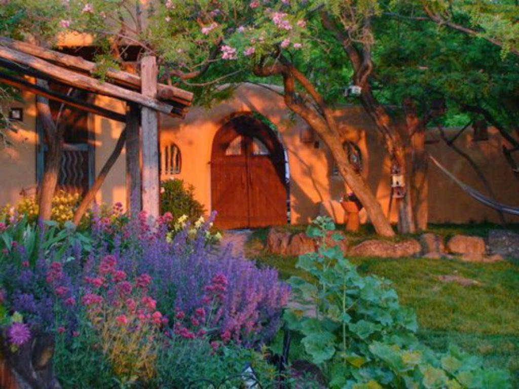 A garden outside Old Taos Guesthouse B&B
