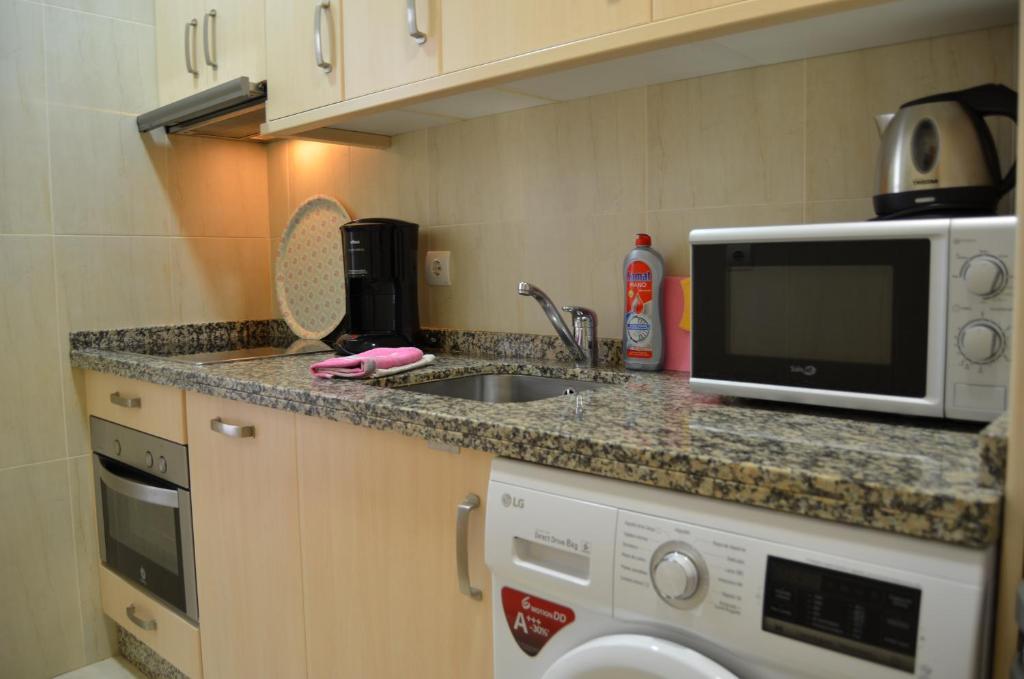 Una cocina o zona de cocina en Carabeo Vista Mar