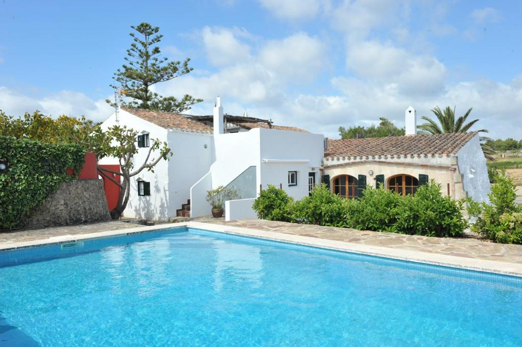The swimming pool at or near Finca Llimpet