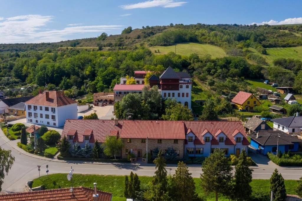 A bird's-eye view of Hotel Kurdějov