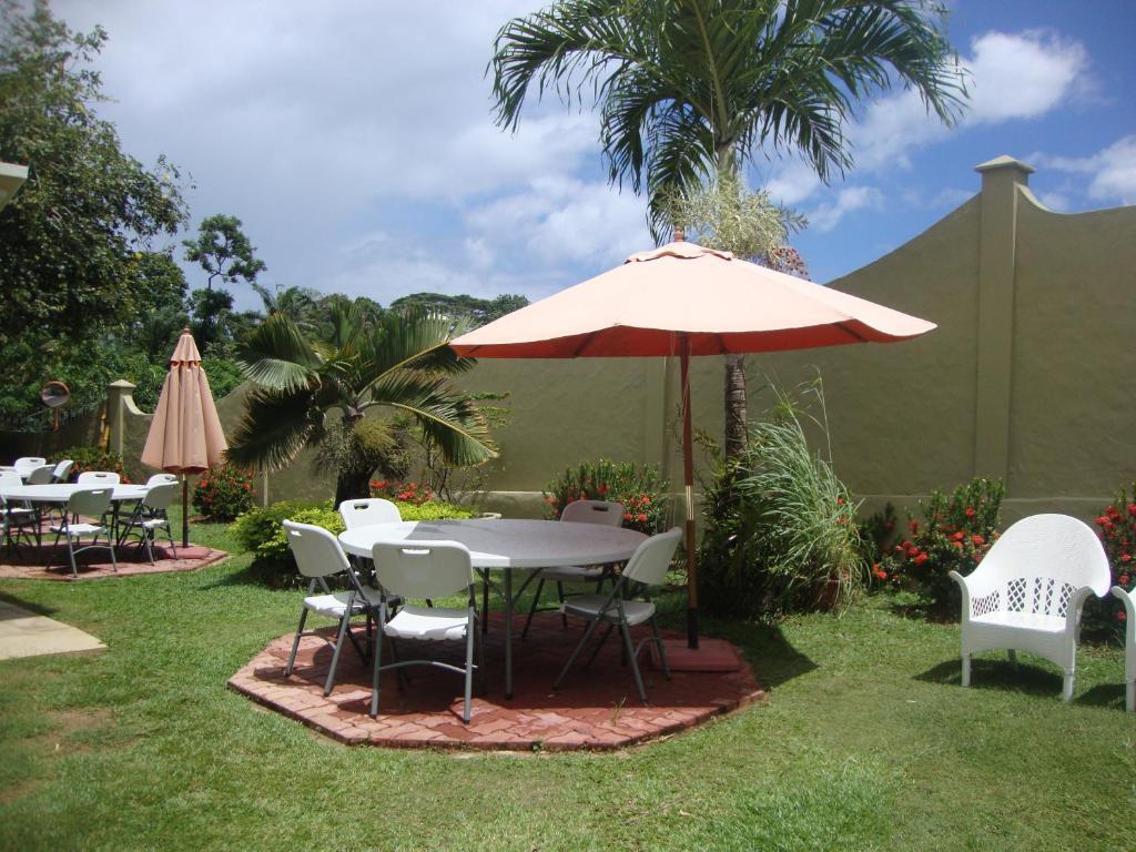 A garden outside Bel Air Hotel