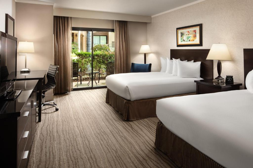 A room at the DoubleTree by Hilton Claremont.