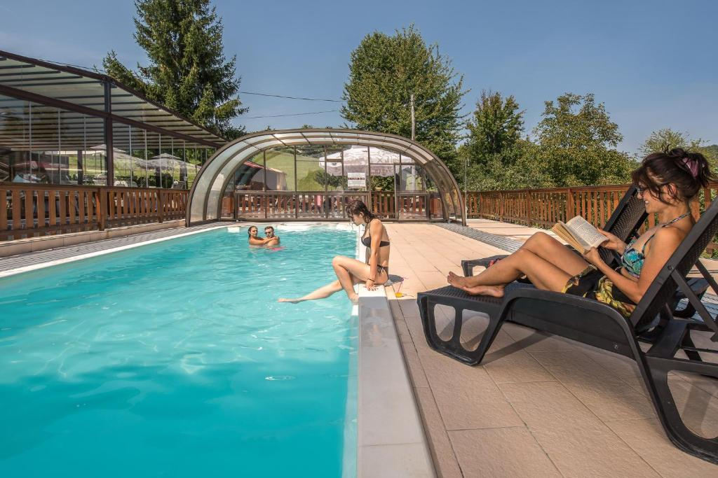 The swimming pool at or near Hotel Srakovcic Heart of Nature
