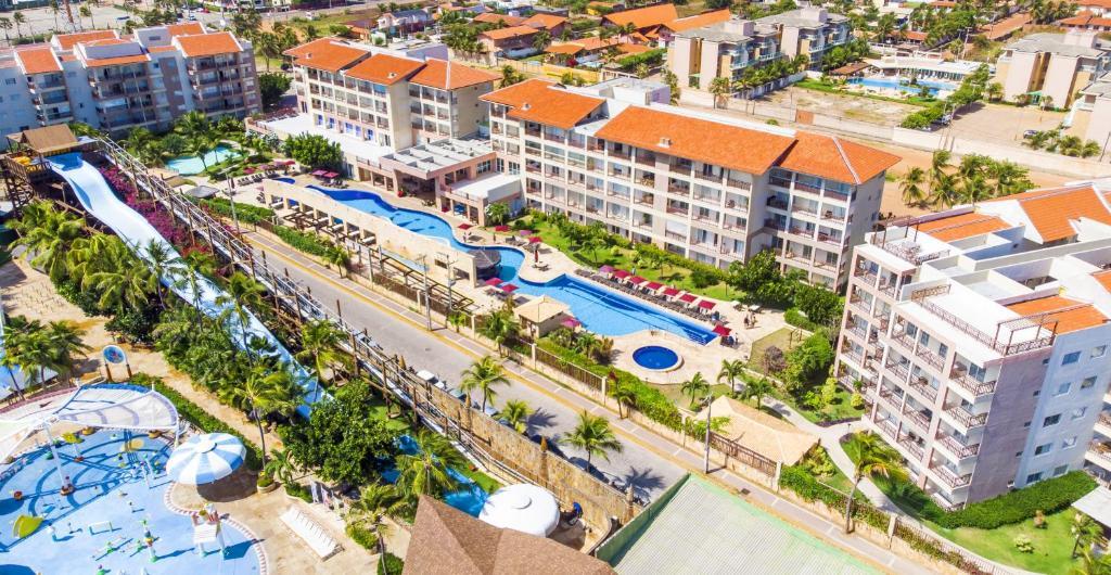Uma vista aérea de Beach Park Resort - Wellness