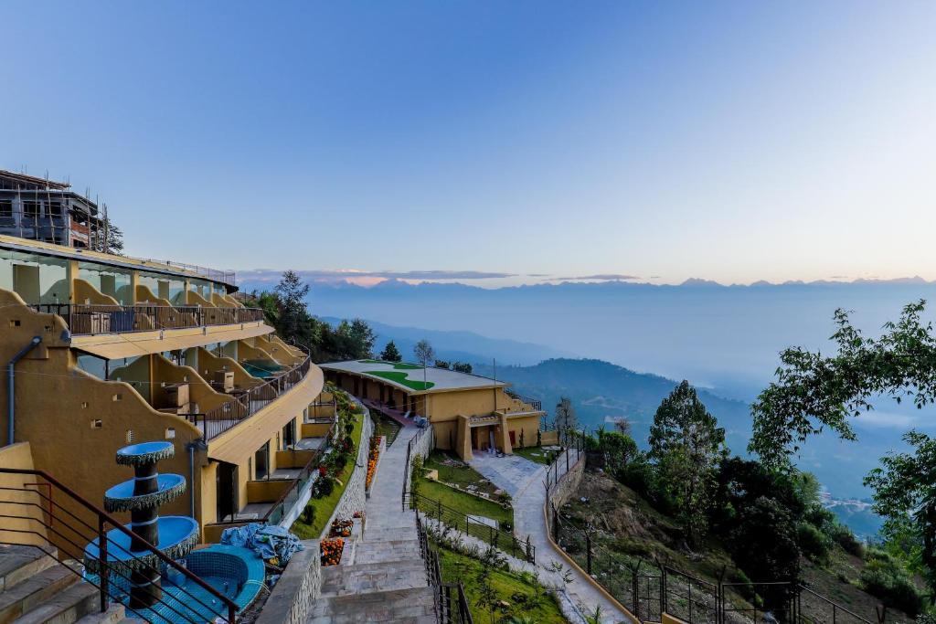 A bird's-eye view of Aagantuk Resort