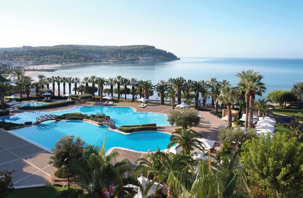 A view of the pool at Sani Beach or nearby