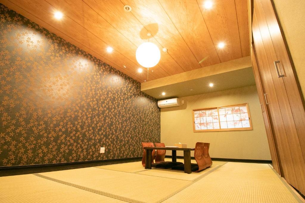 The lobby or reception area at Sakuragawa no Nakatsu House near Umeda/Osaka station