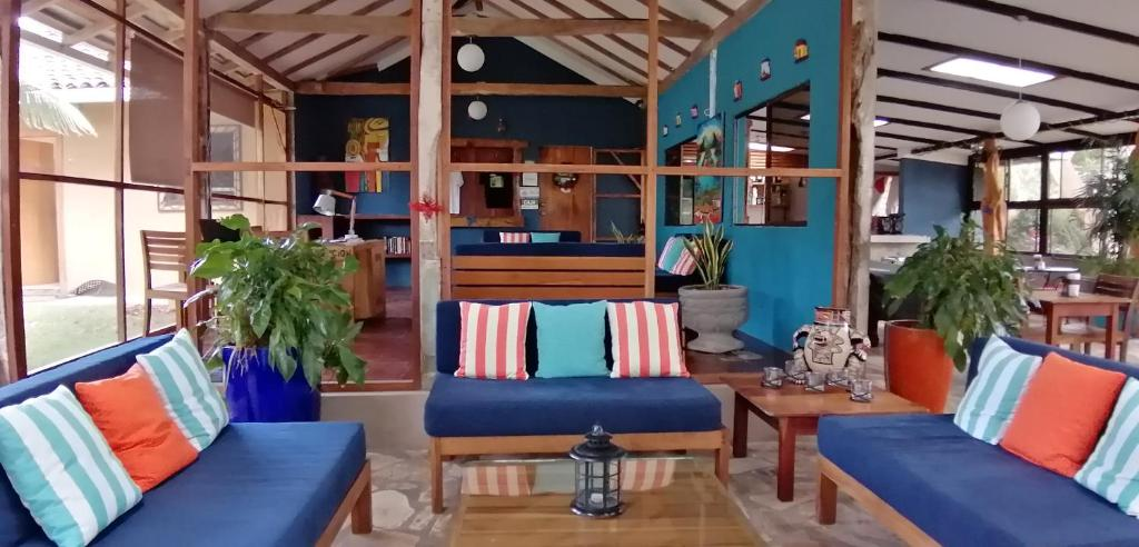 A seating area at Xalli Beach Hotel
