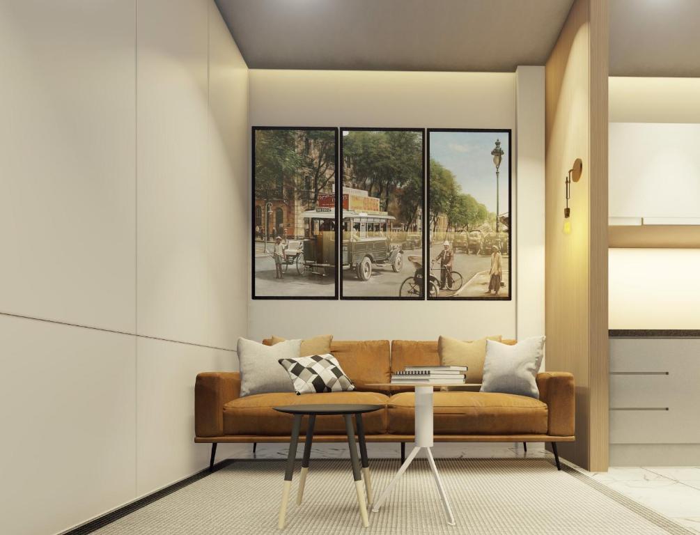 Khu vực ghế ngồi tại GEM Apartment