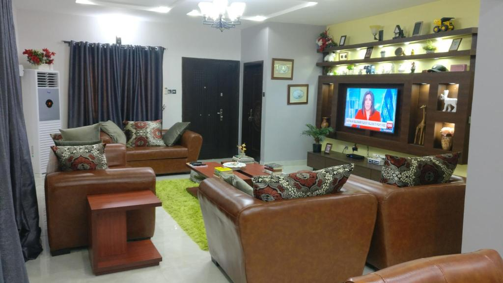A seating area at The Gramophone Abuja