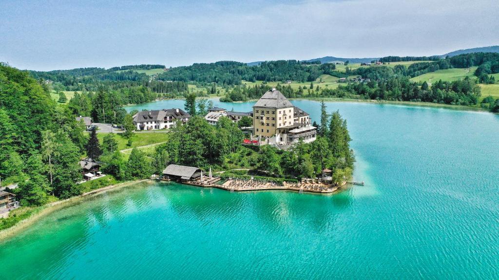 A bird's-eye view of Schloss Fuschl, a Luxury Collection Resort & Spa, Fuschlsee-Salzburg
