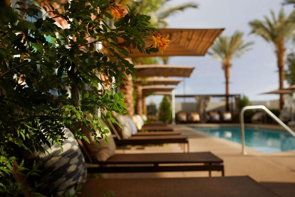 The swimming pool at or near Hyatt Place Las Vegas at Silverton Village