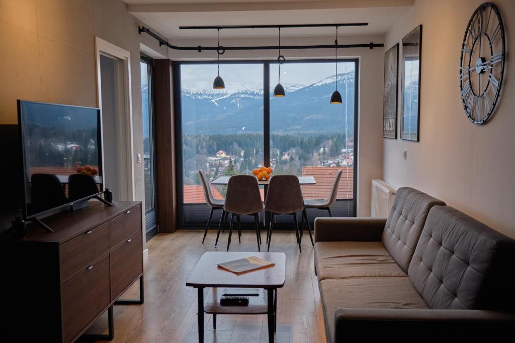 Część wypoczynkowa w obiekcie Panorama800 - Apartamenty Cameo Szklarska Poręba