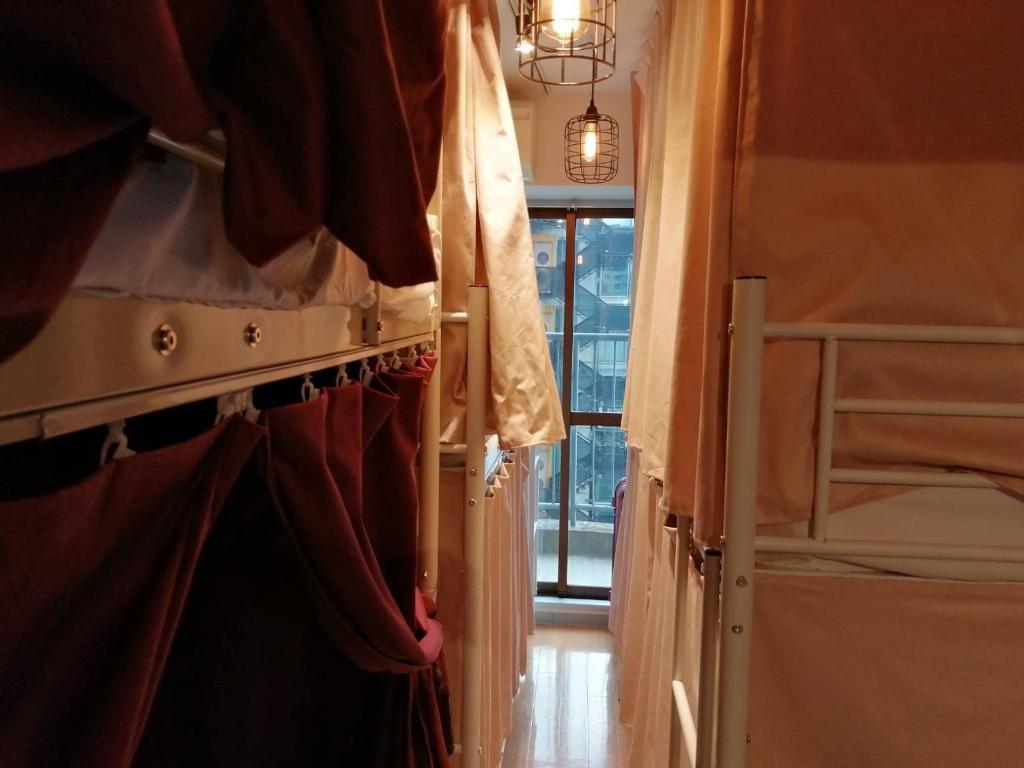 女性専用 Kawaii Houseにある二段ベッド