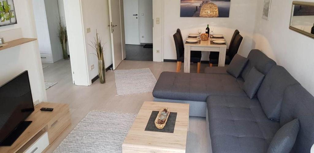 Ein Sitzbereich in der Unterkunft Ambiente Ferienapartments Warmbad Villach