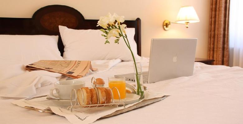 Cama o camas de una habitación en Hotel Rector