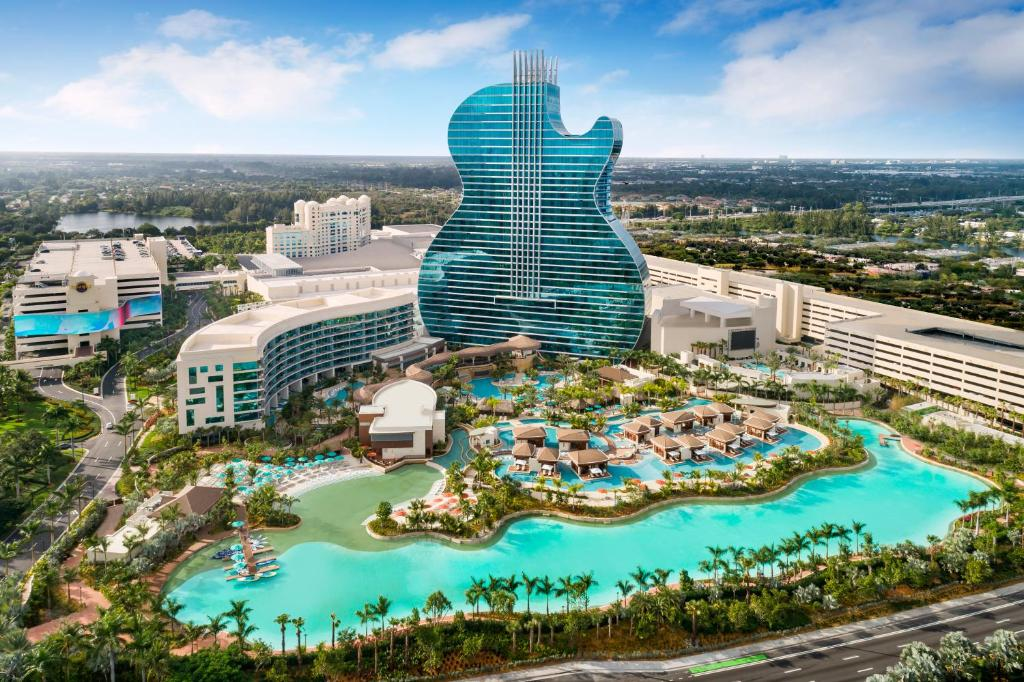 A bird's-eye view of The Guitar Hotel at Seminole Hard Rock Hotel & Casino