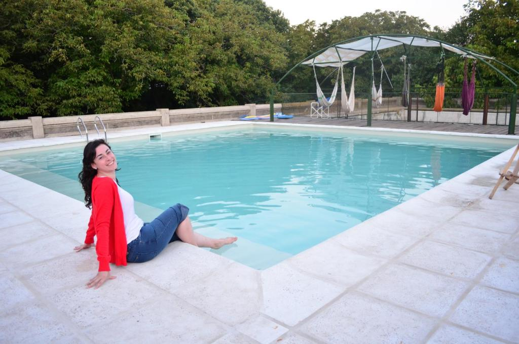 The swimming pool at or near Chacras de Azcona