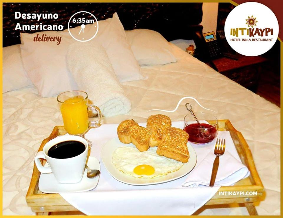 Breakfast options available to guests at Intikaypi Hotel
