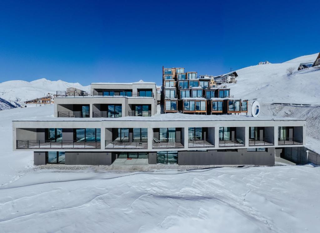 Quadrum Hotel during the winter