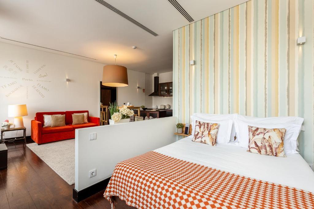 Cama o camas de una habitación en Your Opo Torre Apartments