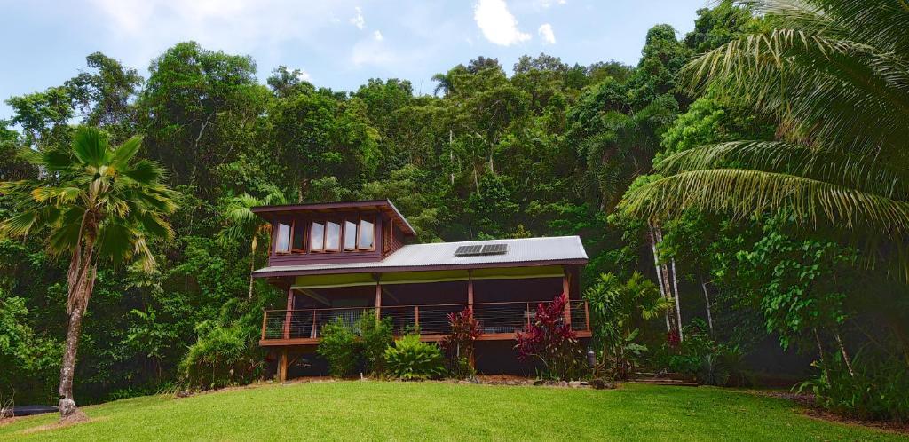 A garden outside Noah Creek Eco Huts