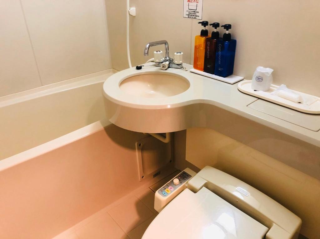 A bathroom at Hirosaki Toei Hotel