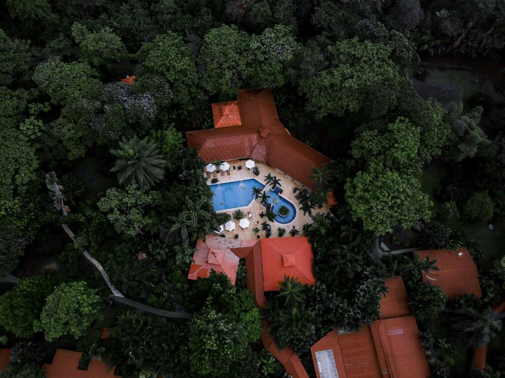 A bird's-eye view of Mawamba Lodge