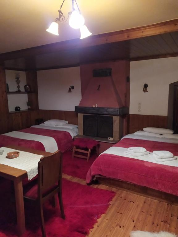 A bed or beds in a room at Casa Calda
