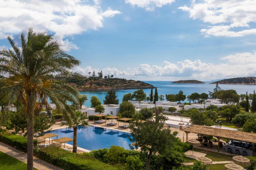 A view of the pool at Minos Beach Art Hotel or nearby