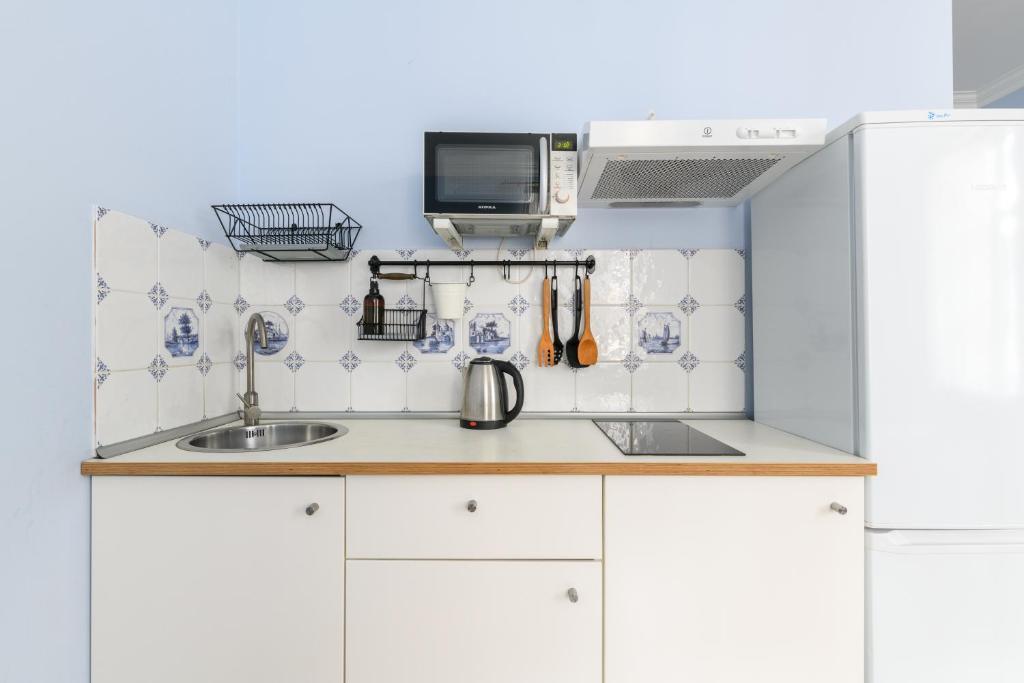 Кухня или мини-кухня в RentalSPb 4 Studio Antonenko