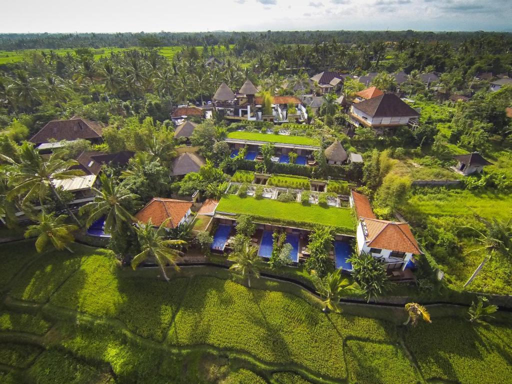 A bird's-eye view of Ubud Green Resort Villas