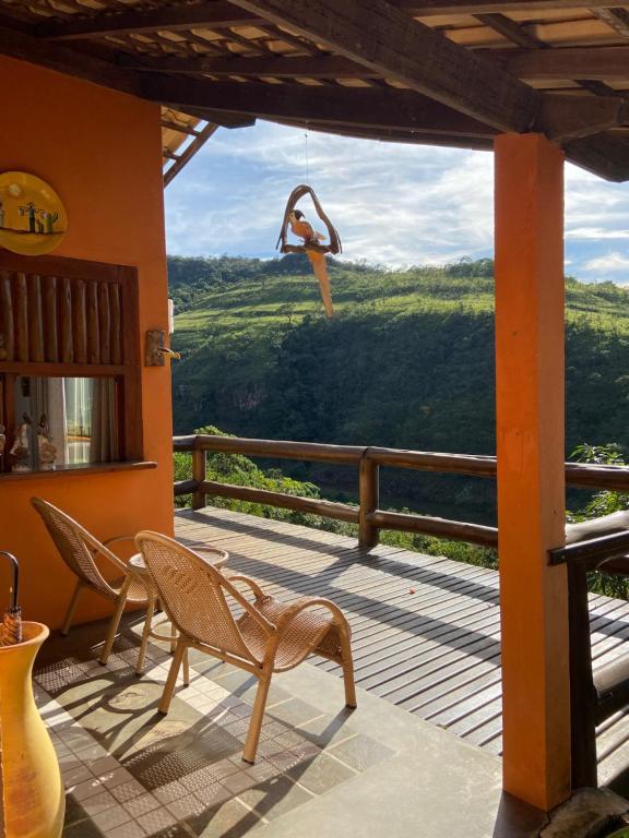 A balcony or terrace at Pousada Fecho da Serra