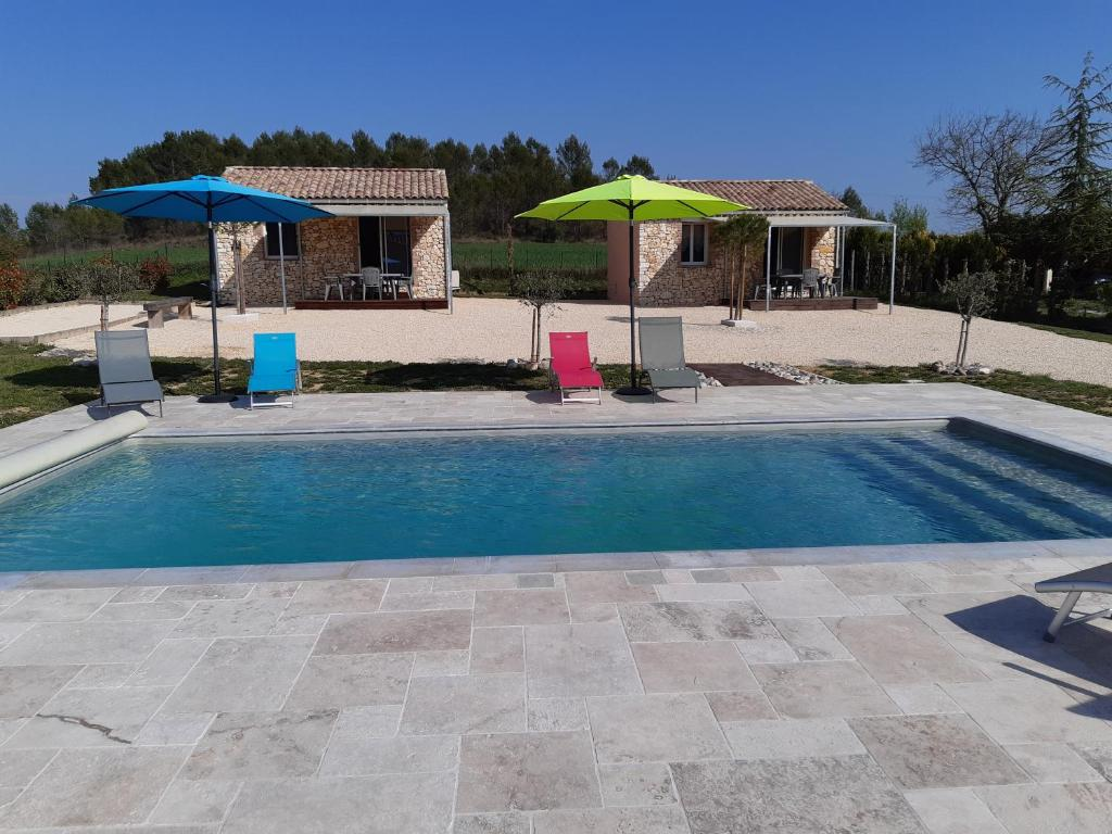 The swimming pool at or close to les Mazets de l'auzonnet