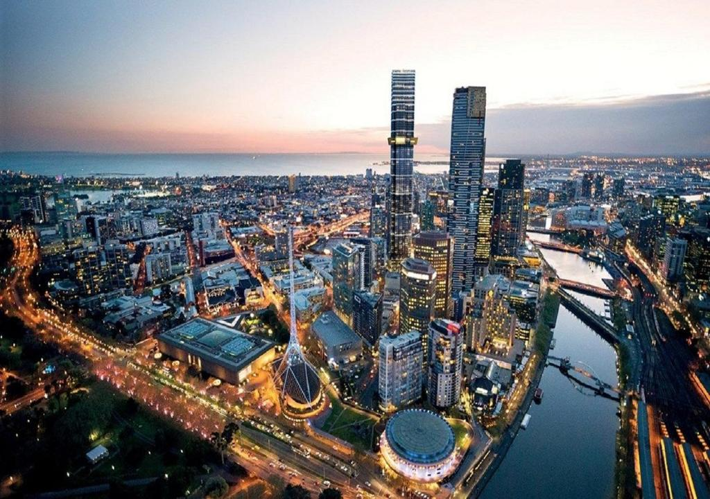 A bird's-eye view of Serviced Apartments Melbourne Aus108