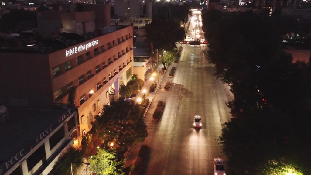 A bird's-eye view of Hotel Patriotismo