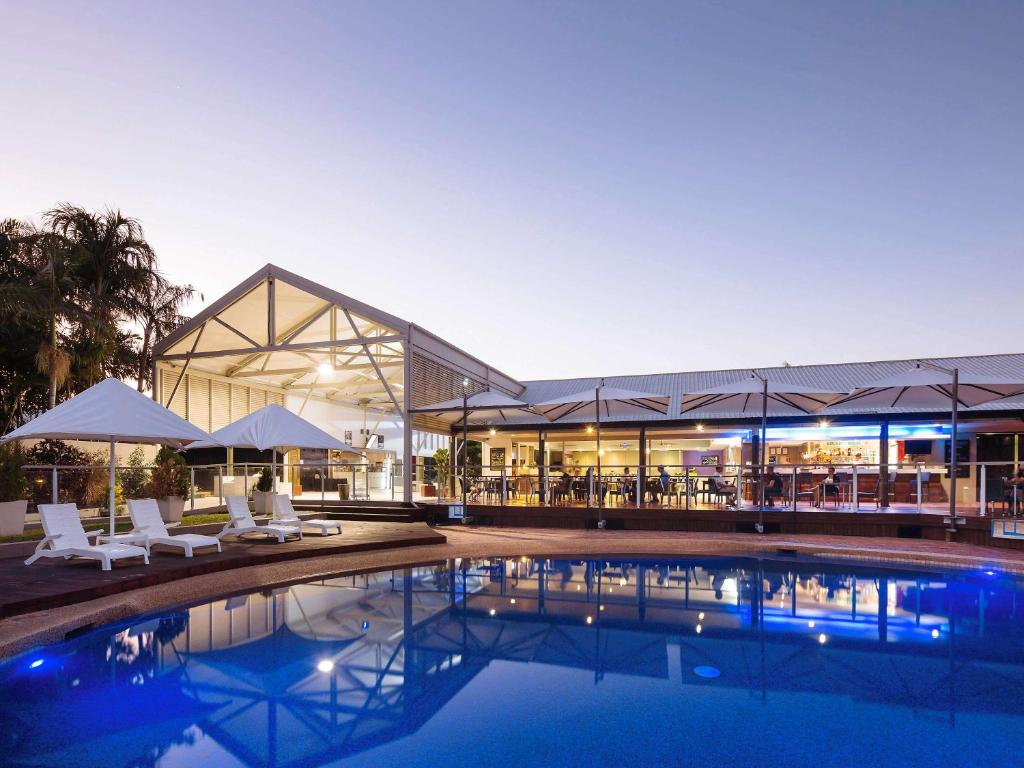 The swimming pool at or near Mercure Townsville
