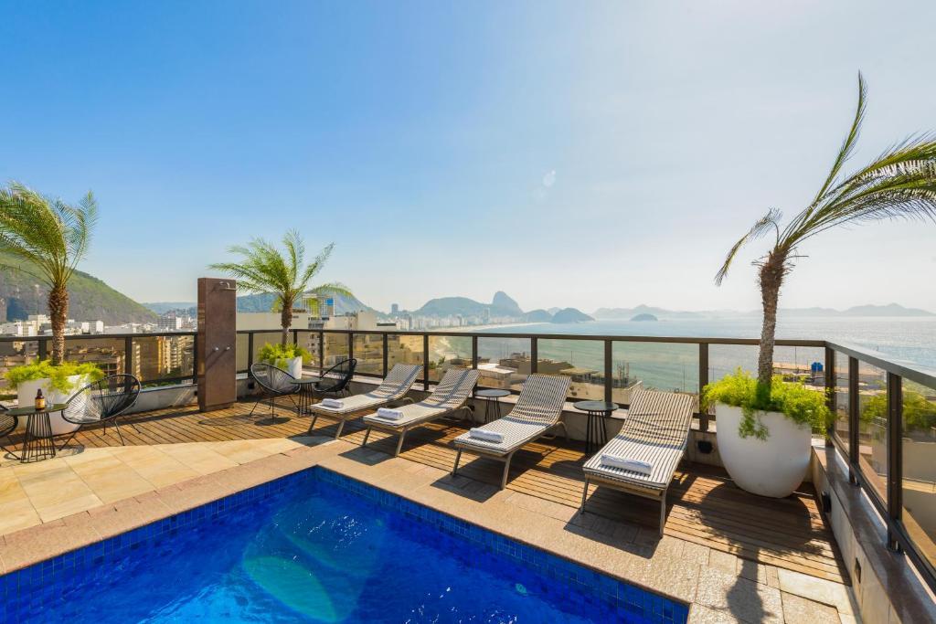 The swimming pool at or near B&B Hotels Rio Copacabana Posto 5